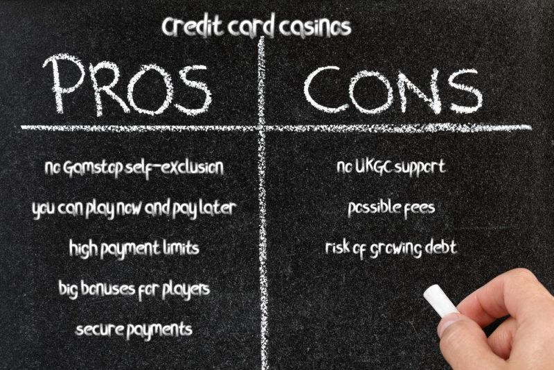 pros and cons credit card casino